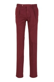 Cotton trousers with straight cut