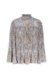 Paisley Pleat Bluse Topper