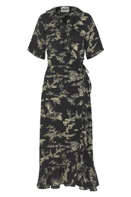 Mako Maxi Wrap Dress Garden aop