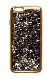 LIQUID GLITTER IPHONE COVER W/GOLD FLAKES