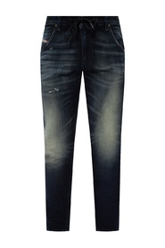 'Krooley Jogg' jeans with raw edge