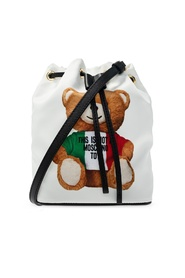 Shoulder bag with teddy bear motif