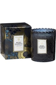 Mørkeblå Voluspa Boxed Scalloped Edge Candle 50Tim Moso Bamboo Lys
