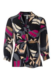 Printed Knot Detail Blouse