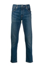 stonewashed effect slim fit jeans