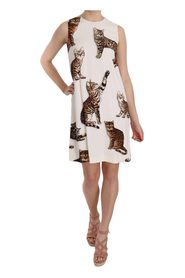 Bengal Cat Sleeveless Dress
