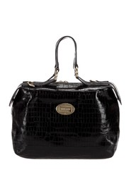 Embossed Leather Handbag
