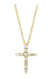 Yellow Gold (18K) Diamond Pendant Necklace Carat/0.21