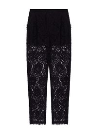 High-waisted lace trousers