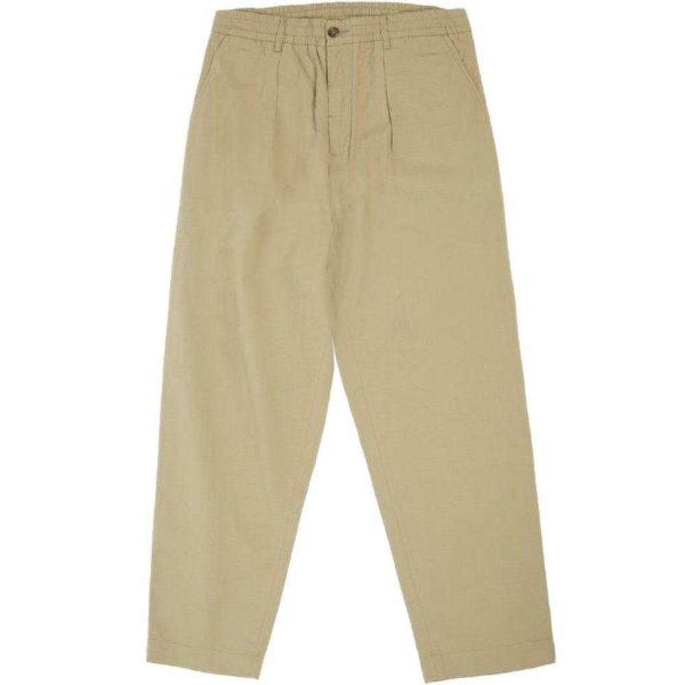 Pleated Track Pant Ripstop Cotton
