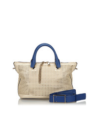 Perforated Leather Baylee Satchel