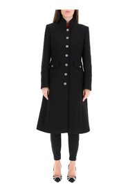 wool coat with heraldic buttons