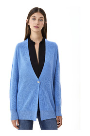 Cardigan with Jewel Button