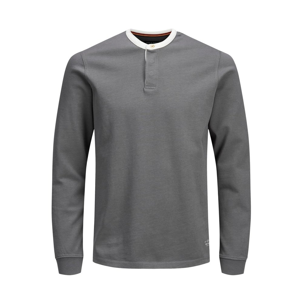 Long-Sleeved T-shirt Mandarin collar