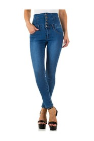 high-waisted jeans with laces