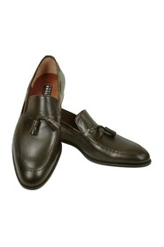 Calf Leather Tassel Loafer Shoes