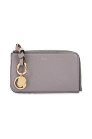 Branded card case with charms