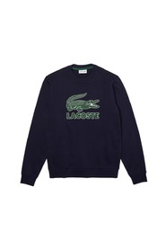 Crackled Print Logo Sweatshirt