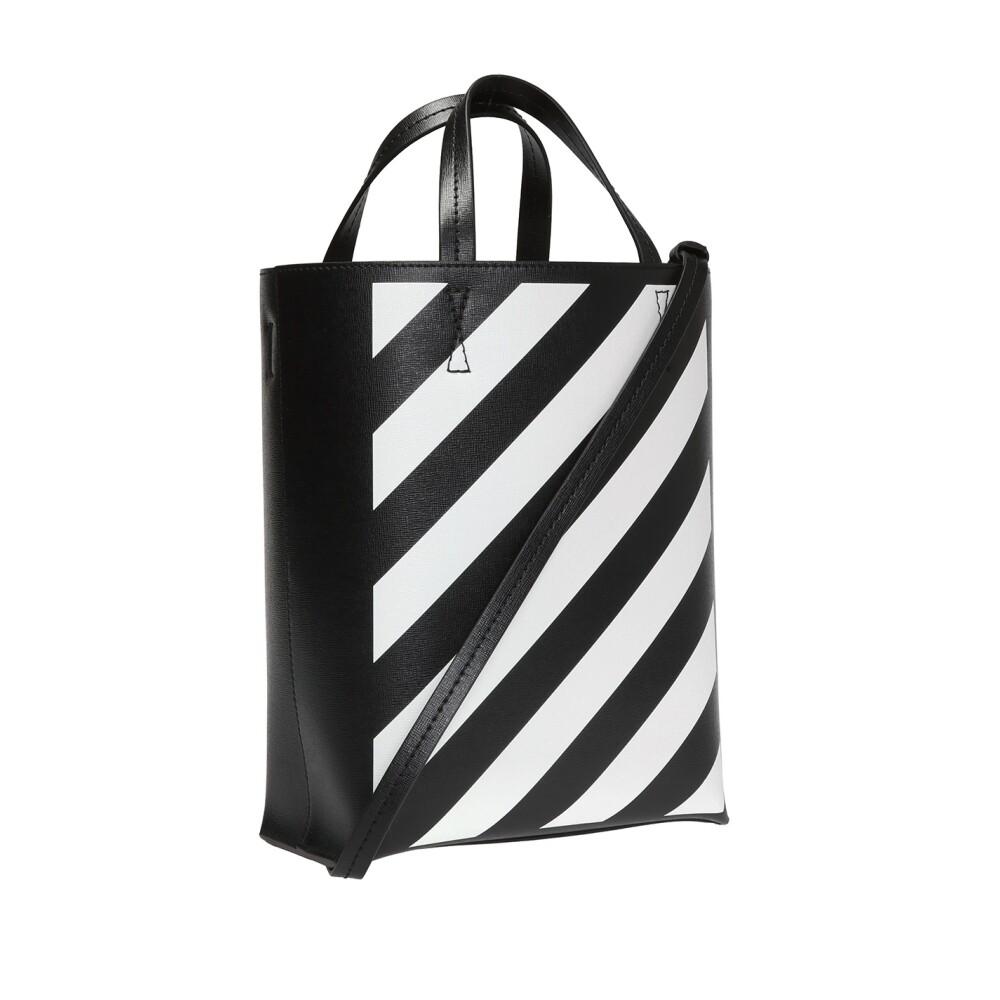 Off White BLACK Striped shopper bag Off White