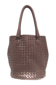 Pre-owned Intrecciato Leather Bucket Bag