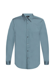 Shirt with point collar