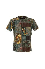 T-SHIRT WITH FLORAL PAISLEY PRINT