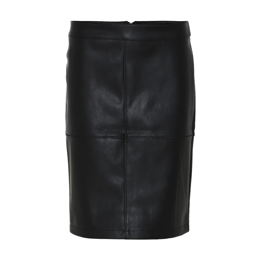 Black Skjørt  Soyaconcept  Skinnskjørt - Dameklær er billig