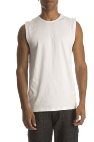 RJ Bodywear heren Mouwloos shirt wit ( 2p)