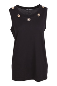 Tank top with crystal DG embellishment