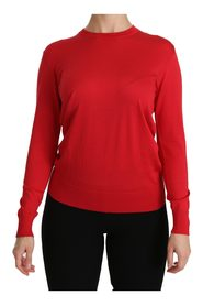Crewneck Pullover Top Silk Sweater