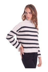 STRIPED ENGLISH RIB SWEATER