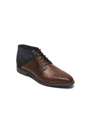 Semi-high lace-up shoe IMOLA 20200920 cognac printed leather