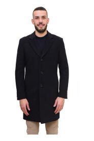 Cappotto slim fit in lana vergine con cashmere