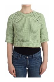 Cropped Knit Sweater Knitted Jumper