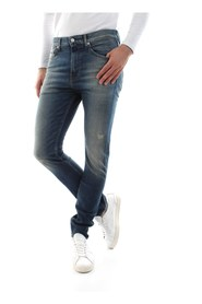 CALVIN KLEIN JEANS J30J312355 - 016 SKINNY JEANS Men DENIM MEDIUM BLUE