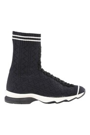 Pre-owned  Black Stretch High-Top Sock Sneakers