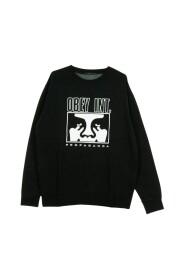 Obey INT Icon Face Custom Pigment Crewneck Sweatshirt