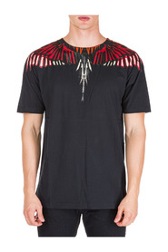 men's short sleeve t-shirt crew neckline jumper wings