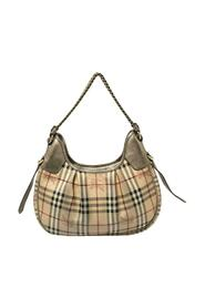 Pre-owned Haymarket Check PVC and Leather Chain Strap Hobo