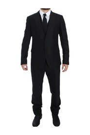 Wool Silk Slim 3 Piece Suit Tuxedo