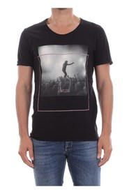 PREMIUM BY JACK&JONES 12137146 FESTIVAL PRINT T SHIRT AND TANK Men BLACK