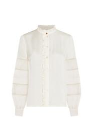 Loua blouse satin embroidery