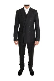 Wool Double Breasted Slim Fit Suit