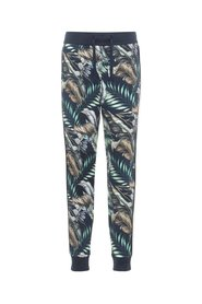 Sweat pants leaf print