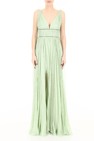 Sage silk and crystal dress