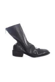 BACK ZIP MID BOOTS SOLE LEATHER