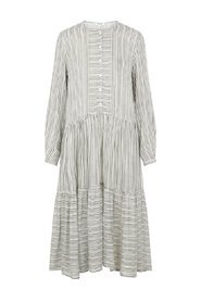 Midi dress Striped viscose