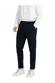 Pants with blue tape closure