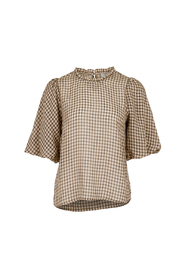 riko check blouse