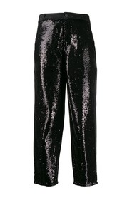Sequinned panel trousers